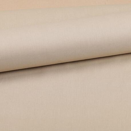 Tissu coton uni beige chanvre