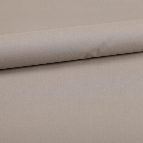 Tissu coton uni beige tourterelle