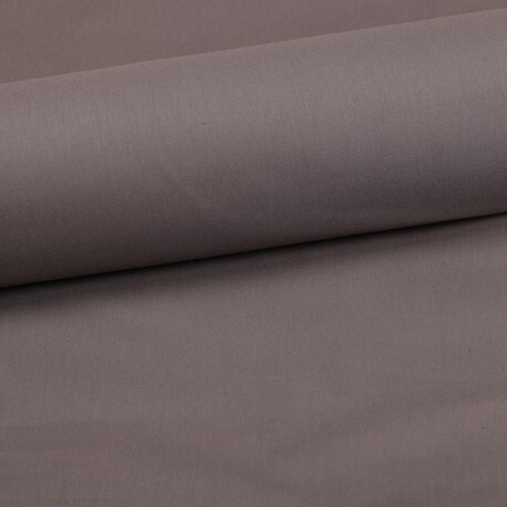Tissu coton uni beige gasoil