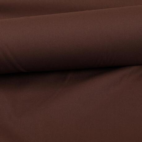 Tissu coton uni marron chocolat
