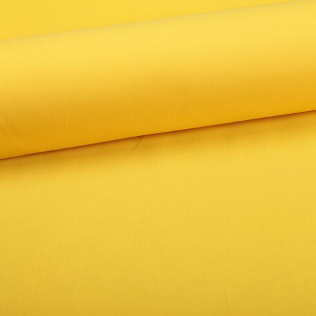 Tissu coton uni jaune colza