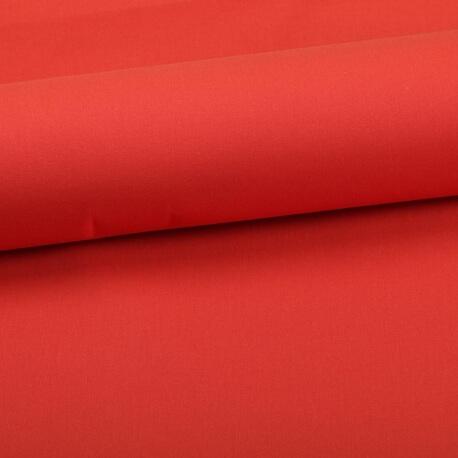 Tissu coton uni orange brique