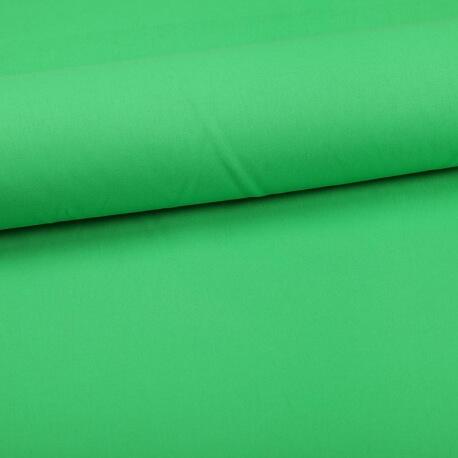 Tissu coton uni vert classique