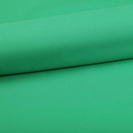 Tissu coton uni vert prairie