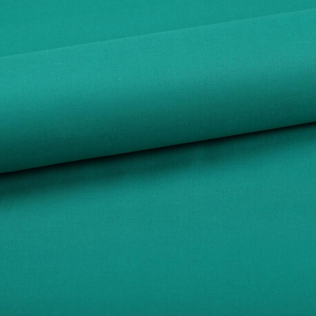 Tissu coton uni vert emeraude