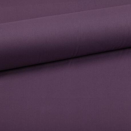 Tissu coton uni violet figue