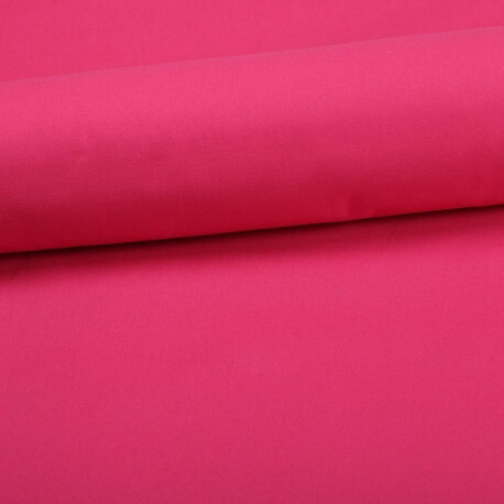 Tissu coton uni rose fuchsia