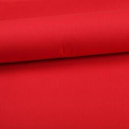 Tissu coton uni rouge vermillon
