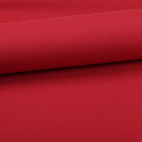 Tissu coton uni rouge bordeaux