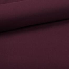 Tissu coton uni violet quetsche