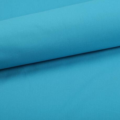 Tissu coton uni bleu hawaï