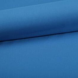 Tissu coton uni bleu gentiane
