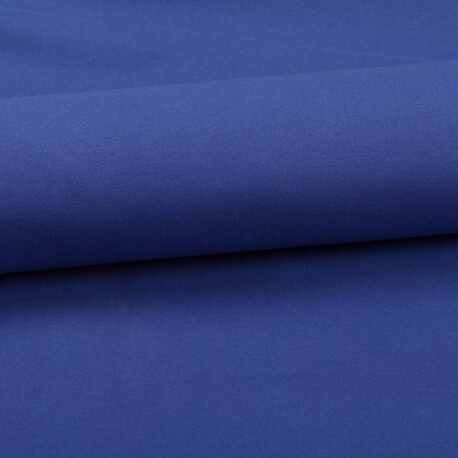 Tissu coton uni bleu roy