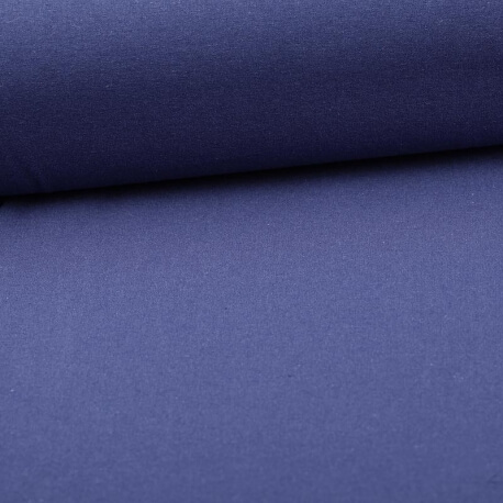 Tissu coton uni bleu navy