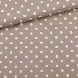 Tissu à pois  - Beige & blanc