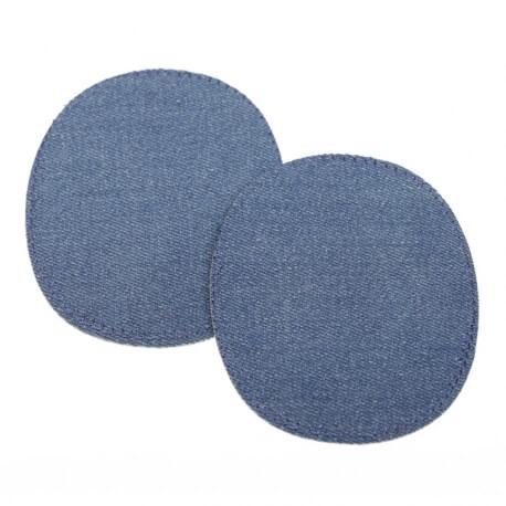 Paire de petits renforts coudes et genoux - Thermocollant ou à coudre - Jean