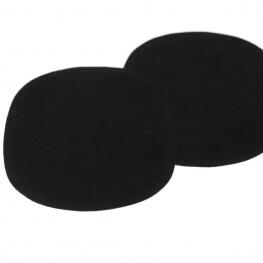 Paire de renforts coudes et genoux - A coudre - Noir