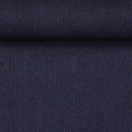 Tissu jean uni brut bleu