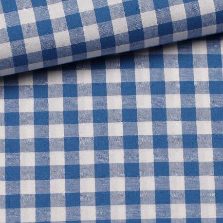 Tissu gros vichy bleu