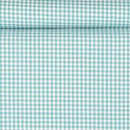 Tissu petit vichy turquoise