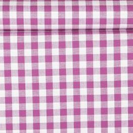 Tissu gros vichy violet