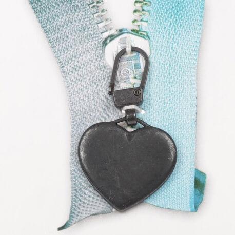 Tirette coeur - Noir mat