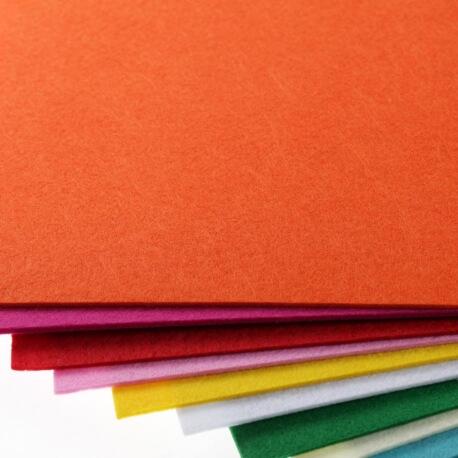 Plaque de feutrine épaisseur 3mm - 25cm x 30cm - Orange carotte