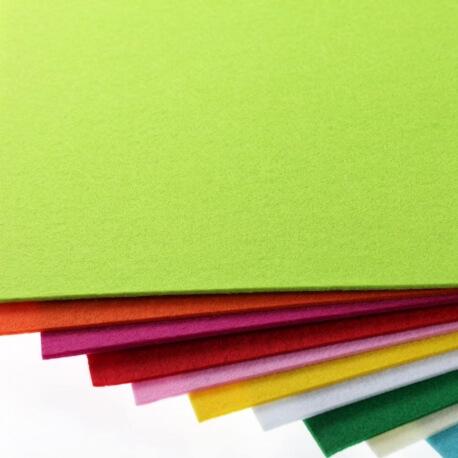 Plaque de feutrine épaisseur 3mm - 25cm x 30cm - Vert lime green