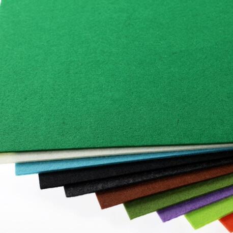 Plaque de feutrine épaisseur 3mm - 25cm x 30cm - Vert fern