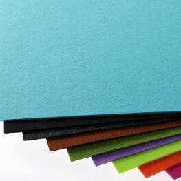 Plaque de feutrine épaisseur 1mm - 25cm x 30cm - Bleu turquoise