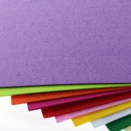 Plaque de feutrine épaisseur 1mm - 25cm x 30cm - Violet royal lilac