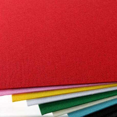 Plaque de feutrine épaisseur 1mm - 25cm x 30cm - Rouge