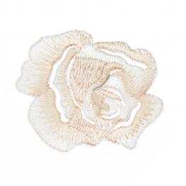 Ecusson fleur rosier - Beige
