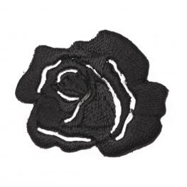 Ecusson fleur rosier - Noir