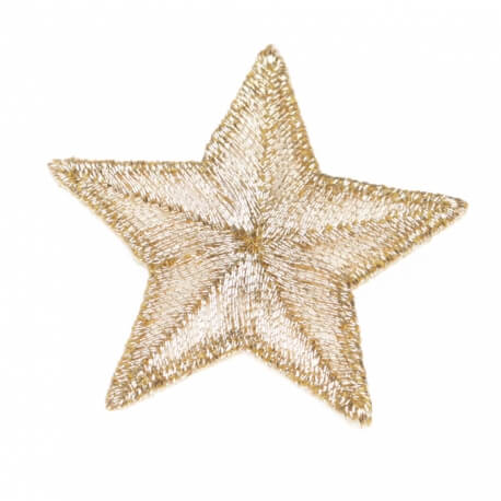 Ecusson étoile brillante - Gold