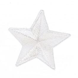Ecusson étoile - Blanc