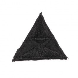 Ecusson mouche triangle - Noir