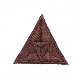 Ecusson mouche triangle - Marron