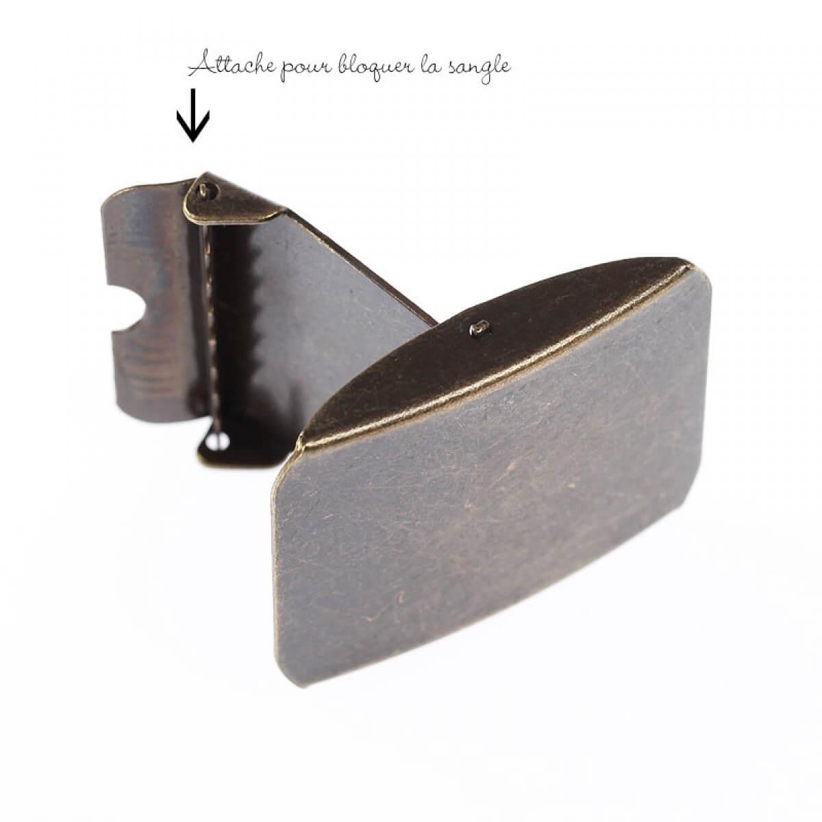 Boucle ceinture 40mm - Laiton antique - Mercerie Caréfil a3482a5ce79