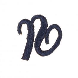 Ecusson lettre N - Marine