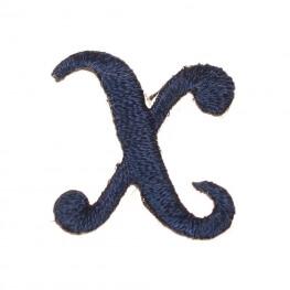 Ecusson lettre X - Marine
