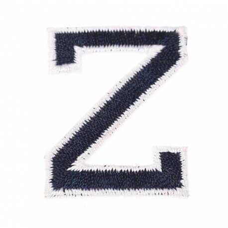 Ecusson lettre américaine Z - Marine & blanc