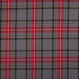 Tissu écossais tartan classic  - Rouge et gris