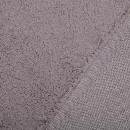 Tissu petite fourrure doudou x 50cm - Gris