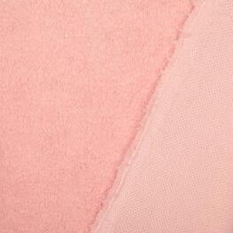 Tissu petite fourrure doudou x 50cm - Rose