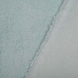 Tissu petite fourrure doudou x 50cm - Bleu ciel