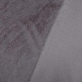 Tissu petite fourrure doudou x 50cm - Taupe
