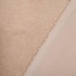 Tissu petite fourrure doudou x 50cm - Beige