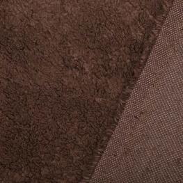 Tissu petite fourrure doudou x 50cm - Marron