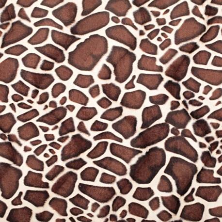 Tissu peau de girafe fine fourrure